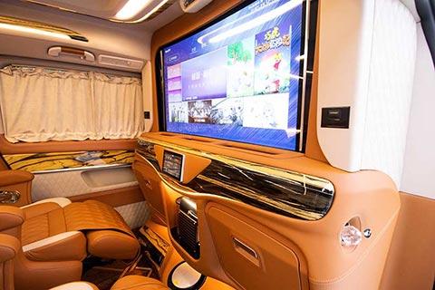 奔驰v级改装房车报价 功能吧台配置升降隔屏曲面电视